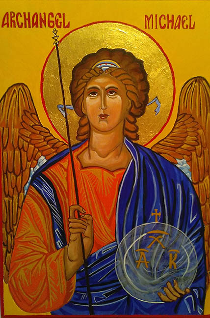 St Michael icon by Noreen Bavister